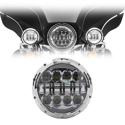 "7"" Harley Headlights - 7"" Bugeye Bar Style LED Harley Headlight"