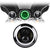 "7"" Green Halo Daymaker Style LED Harley Headlights"