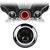 "7"" Red Halo Daymaker Style LED Harley Headlights"