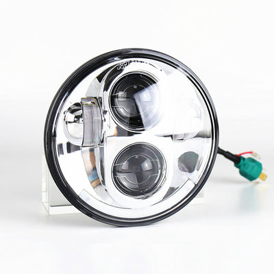 "5-3/4"" Bottom Halo Daymaker Style LED Harley Headlight"