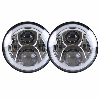 Jeep Wrangler Color Changing Halo LED Headlights 1997-2018 - Gen2 RGB (Pair)