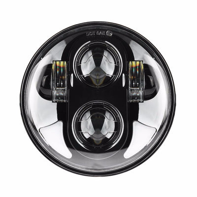 "5-3/4"" Bottom Split Halo Daymaker Style LED Harley Headlight"