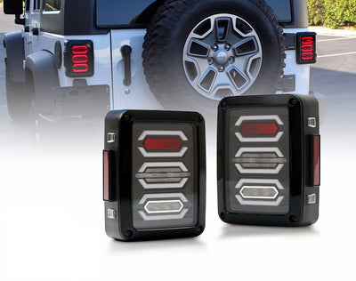 Diamond 07-17 Jeep Wrangler JK LED Tail Lights