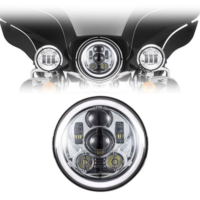 "7"" Halo Daymaker Style Gen 3 LED Harley Headlight"