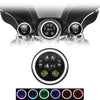 "7"" 6 Pod Color Changing Halo LED Harley Headlight"