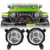 Jeep Wrangler JL LED Headlights 2018-2019 - Gen2 4 Pod (Pair)