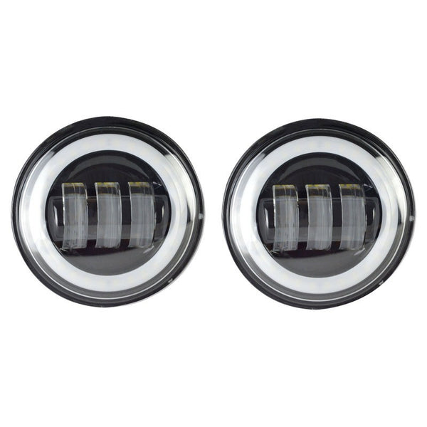 4 5 Quot Harley Daymaker Style Halo Led Passing Auxiliary Lights Ralu Led