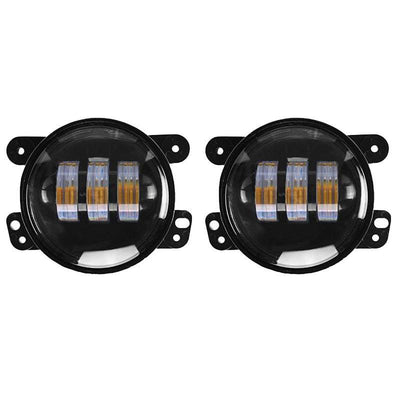 "Jeep Fog Lights - 07-16 Jeep Wrangler JK 4"" LED Amber Fog Lights"