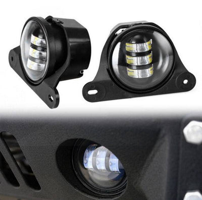 "Jeep Fog Lights - Anniversary Jeep Wrangler JK 4"" LED Fog Lights"