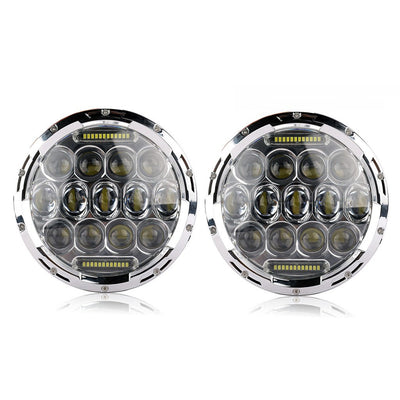 Jeep Headlights - 7 Inch Round Bugeye LED Headlights (Pair) - Jeep Wrangler JK/TJ/LJ/CJ