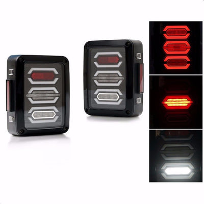 Jeep Tail Lights - Diamond 07-16 Jeep Wrangler JK LED Tail Lights