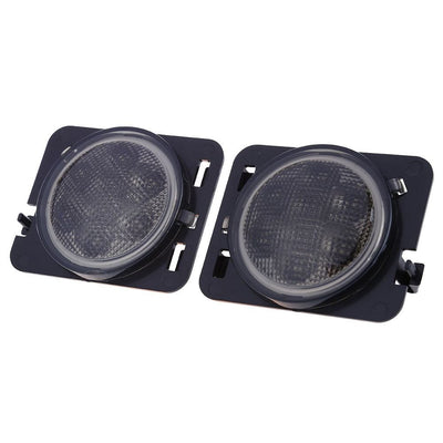 Jeep Turn Signals - 07-16 Jeep Wrangler JK LED Smoked Fender Side Markers & Turn Signal Set
