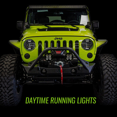 Jeep Wrangler LED Headlights JK/JKU/TJ 1997-2018 - Bugeye (Pair)