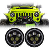 Jeep Wrangler LED Halo Headlights JK/JKU/TJ 1997-2018 - Predator  (Pair)