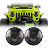 Jeep Wrangler LED Headlights JK/JKU/TJ 1997-2018 - Black 4 Pod  (Pair)