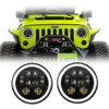 Jeep Wrangler LED Halo Headlights JK/JKU/TJ 1997-2018 - 6 Pod  (Pair)