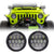 Jeep Wrangler LED Headlights JK/JKU/TJ 1997-2018 - Black Honeycomb (Pair)