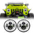 Jeep Wrangler Chrome LED Headlights JK/JKU/TJ 1997-2018 - Chrome 4 Pod  (Pair)