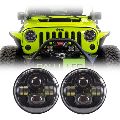 Jeep Wrangler LED Headlights JK/JKU/TJ 1997-2018 - Double 4 Pod (Pair)