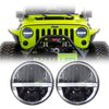 Jeep Wrangler LED Headlights JK/JKU/TJ 1997-2018 - Half Moon Daytime Running Lights (Pair)