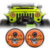 Jeep Wrangler LED Headlights JK/JKU/TJ 1997-2018 - Custom Painted 4 Pod (Pair)