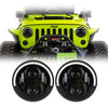 Jeep Wrangler Halo LED Headlights JK/JKU/TJ 1997-2018 - Top Halo (Pair)