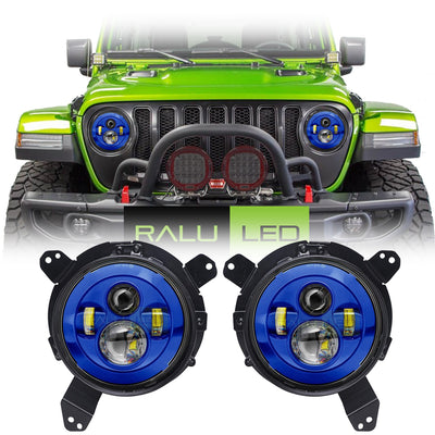 Jeep Wrangler JL LED Headlights 2018-2019 - Custom Painted 4 Pod (Pair)