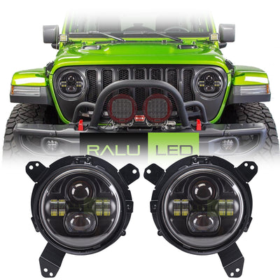 Jeep Wrangler JL LED Headlights 2018-2019 - Double 4 Pod (Pair)