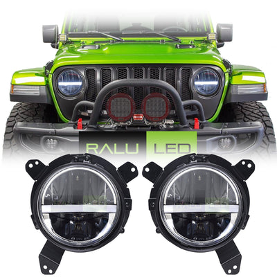 Jeep Wrangler JL LED Headlights 2018-2019 - Half Moon Daytime Running Lights (Pair)