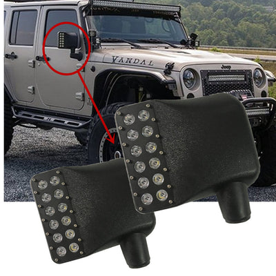 Gen2 07 17 Jeep Wrangler Jk Led Side Mirror Lights Ralu Led