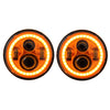 Jeep Wrangler JL Orange Halo LED Headlights 2018-2019 - Orange 4 Pod (Pair)