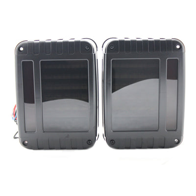 Blacked Out Linear 07 17 Jeep Wrangler JK LED Tail Lights