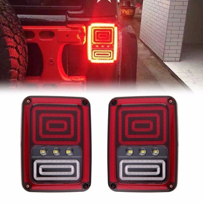 Snake 07 17 Jeep Wrangler JK LED Tail Lights