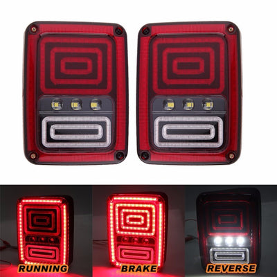Snake 07-17 Jeep Wrangler JK LED Tail Lights