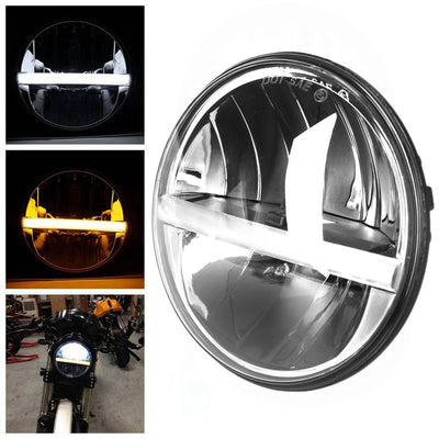 "7"" Half Moon Daytime Running LED Harley Headlight"