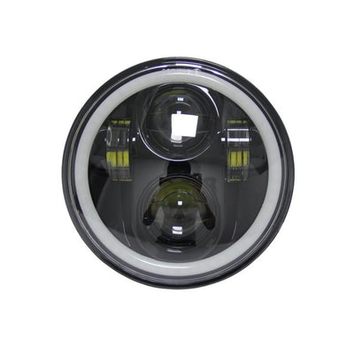"5-3/4"" RGB Color Changing Halo Daymaker Style LED Harley Headlight"