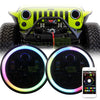 Jeep Wrangler LED Color Changing Halo Headlights JK/JKU/TJ 1997-2018 - 6 Pod  (Pair)