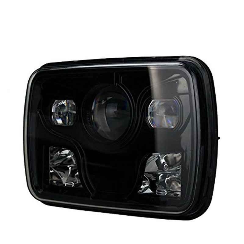 "7x6"" 5x7"" Inch Diamond Projector LED Headlights Pair"