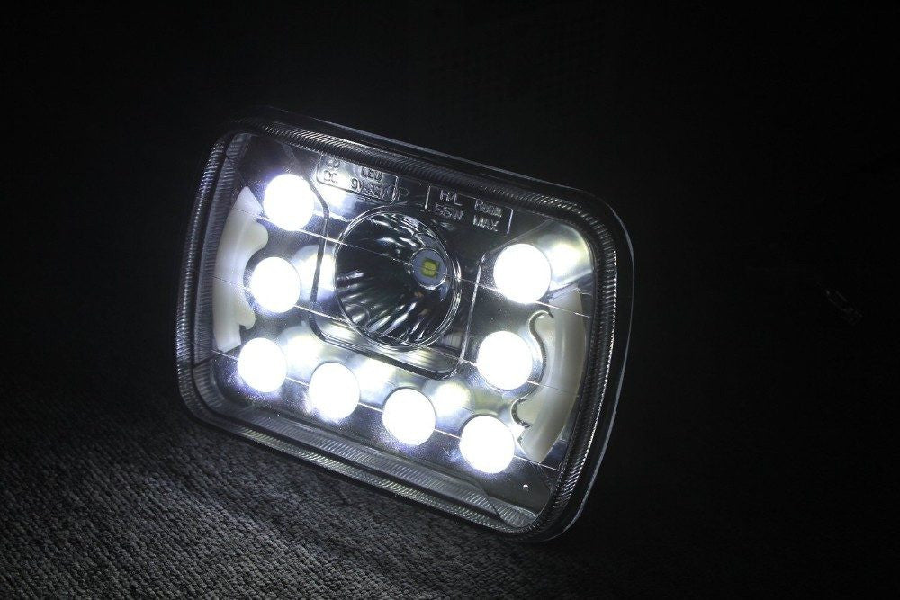 7x6 Quot 5x7 Quot Inch Dot Led Headlights With Daytime Running