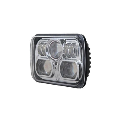 "Square Headlights - 7x6""/5x7"" Inch Projector LED Headlights (Pair) - Jeep XJ/YJ"
