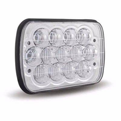 "Square Headlights - 7x6""/5x7"" Inch Square Bugeye LED Headlights (Pair) - Jeep XJ/YJ"