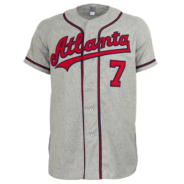 sale retailer a101e b7675 Atlanta Crackers 1959 Road Jersey