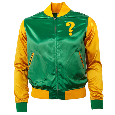 MEDIUM - Clearing Question Marks Satin Color Block Jacket
