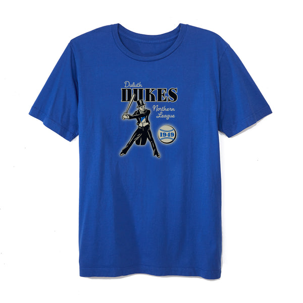 Duluth dukes 1949 t shirt ebbets field flannels for Duluth t shirt commercial