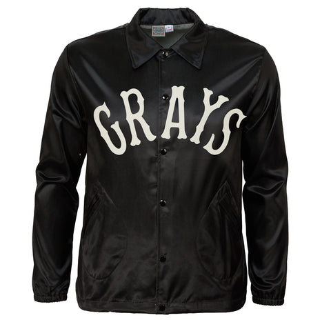 Homestead Grays Vintage Satin Windbreaker