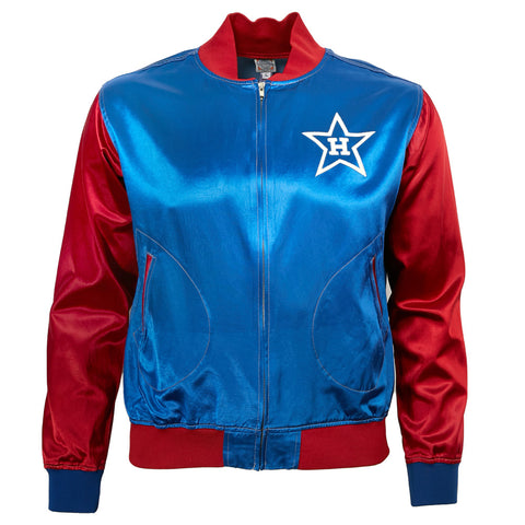 LARGE - Hollywood Stars Satin Color Block Jacket