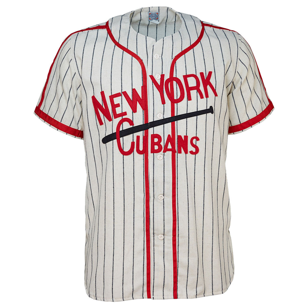 b0ea9b024 1948 New York Cubans — There s just something about this jersey that stands  out — the beautiful red piping atop pinstripes (a look I normally don t  like) ...