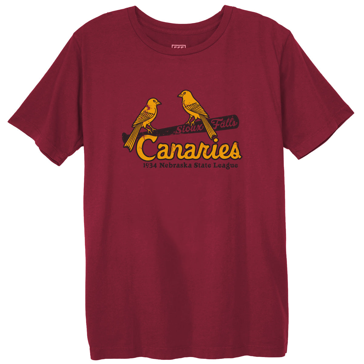 992b10559d1 Sioux Falls Canaries 1934 T-Shirt. EBBETS FIELD FLANNELS.  30. Login to  save this item