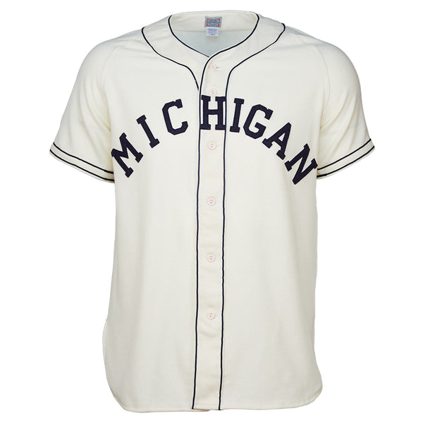 University of Michigan 1961 Home Jersey – Ebbets Field Flannels 1014e2bc1