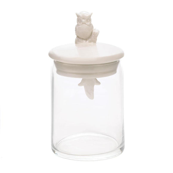Owl Glass Jar